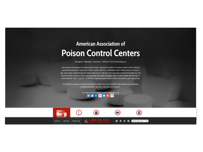 American Association of Poison Control Centres (AAPCC)