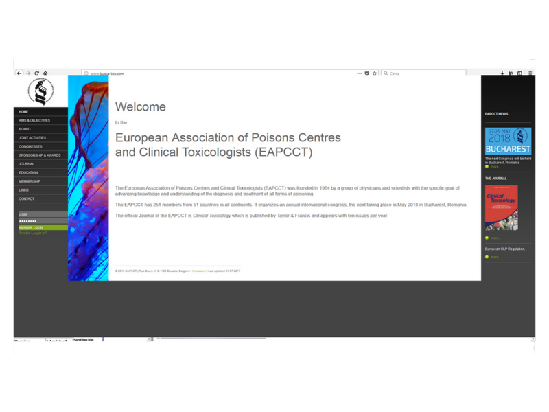 European Association of Poisons Centres and Clinical Toxicologists (EAPCCT):