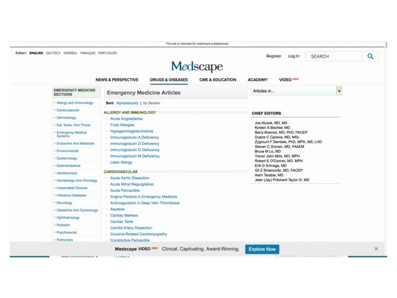 Medscape: Emergency Medicine