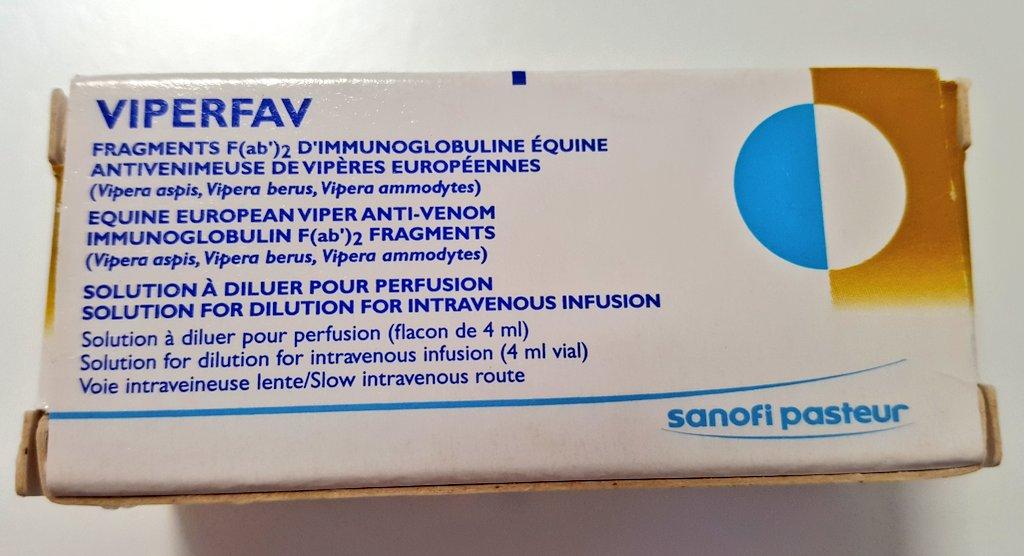 Extensión de la fecha de caducidad del suero antiofídico Viperfav®