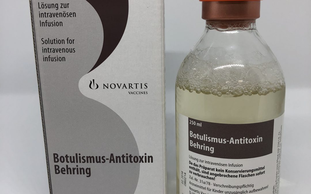 Caducada la antitoxina botulínica Botulism-Antitoxin Behring 100 mg/ml (GSK) disponible en los hospitales españoles