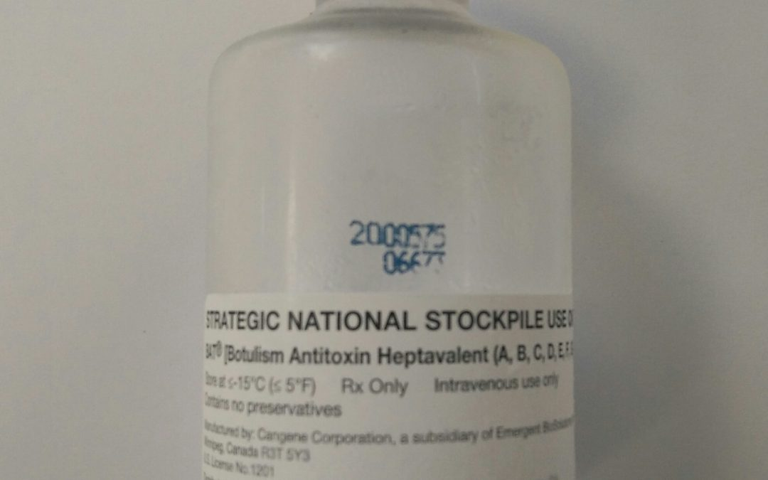 Disponible la nueva especialidad de suero antibotulínico