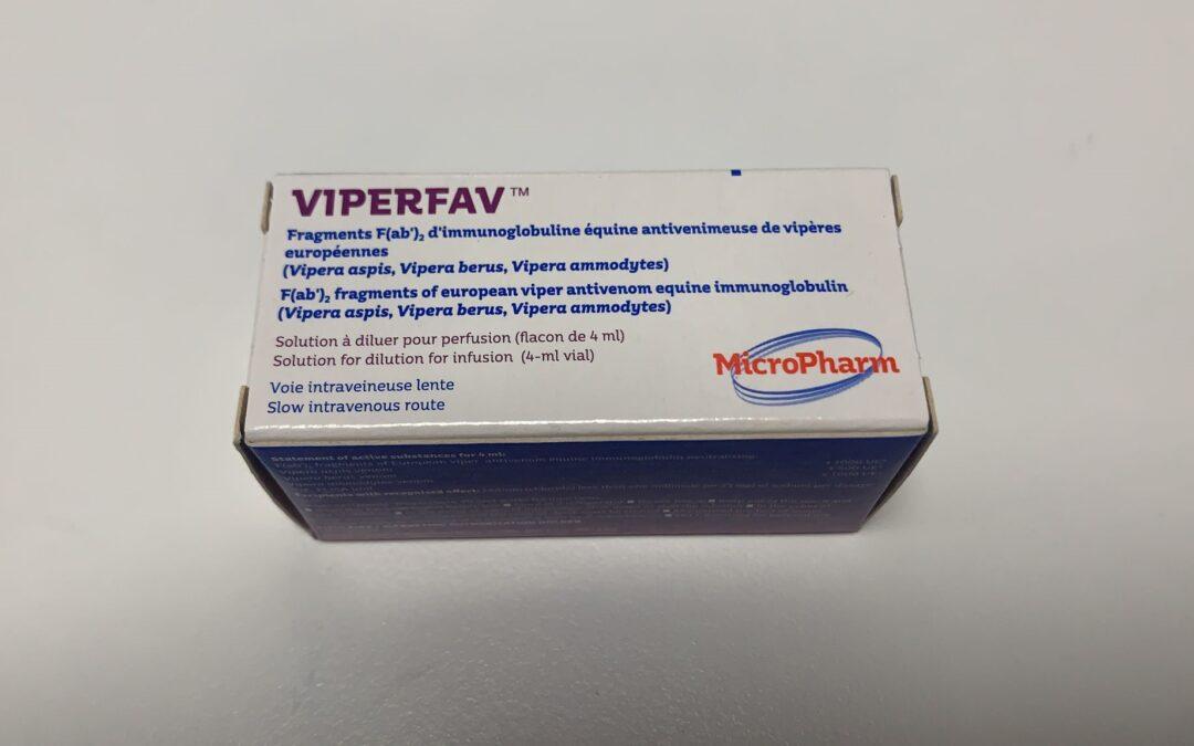 Viperfav® vuelve a estar disponible como medicamento extranjero